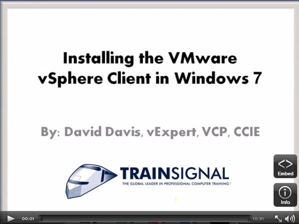 Installing the VMware vSphere Client in Windows 7