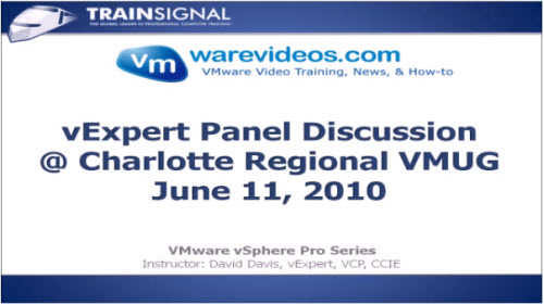 VIDEO vExpert Panel Discussion at Charlotte VMUG
