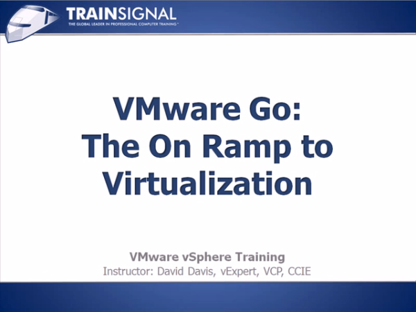VMware GO - the onramp to virtualization