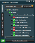 SolarWinds VM Console screenshot