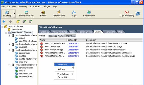 How to schedule tasks with the VMware Infrastructure Client and ESX Server